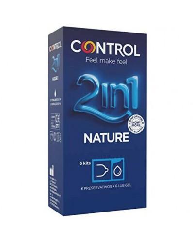 CONTROL PRESERVATIVOS NATURE CON LUBRICANTE - 6UDS